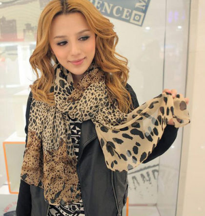 Esarfa animal print leopard