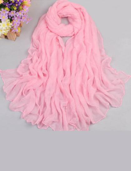 Esarfa fashion roz deschis