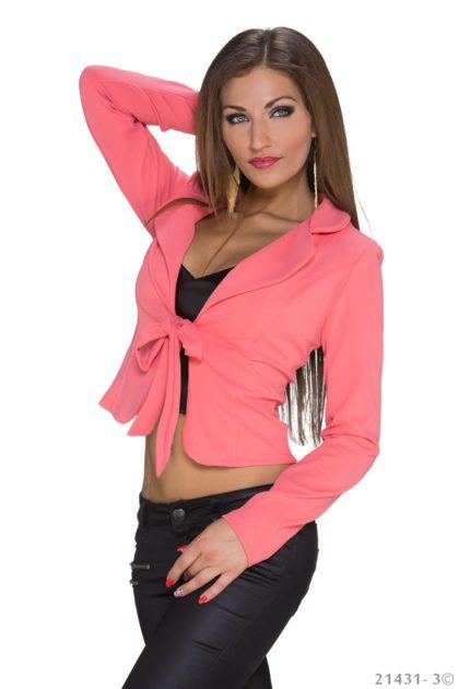 Sacou elegant roz lateral