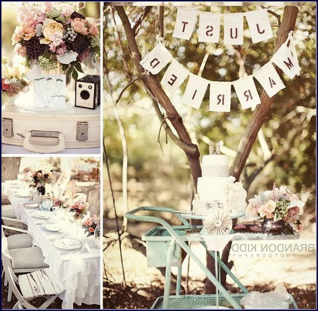 Tematica vintage pentru nunta decor