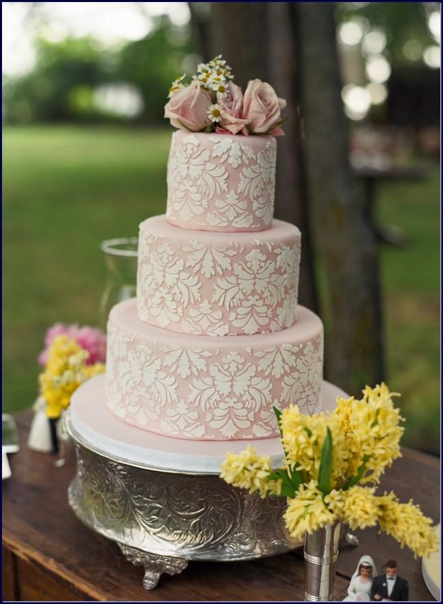 Tematica vintage pentru nunta tort