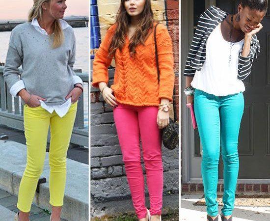 combinatie jeansi colorati