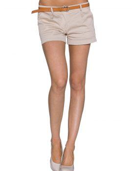 Pantaloni scurti crem
