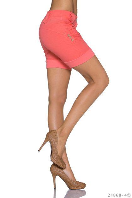Pantaloni scurti culoarea somonului lateral
