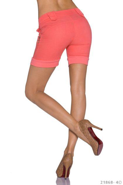 Pantaloni scurti culoarea somonului spate