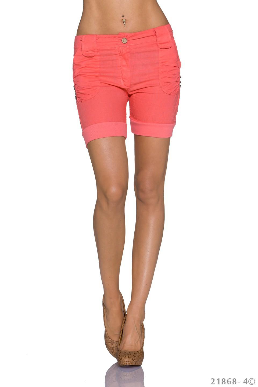 Pantaloni scurti culoarea somonului