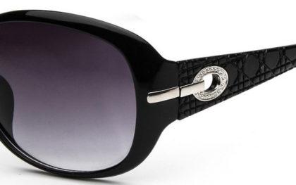 Ochelari de soare cu rama neagra Retro Vintage detaliu