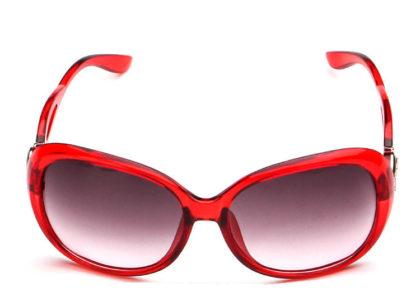 Ochelari de soare cu rama rosie Retro Sunglass fata