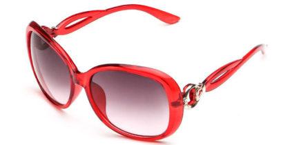 Ochelari de soare cu rama rosie Retro Sunglass profil