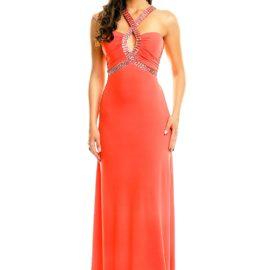 Rochie eleganta lunga MAIA HEMERA rosie fata