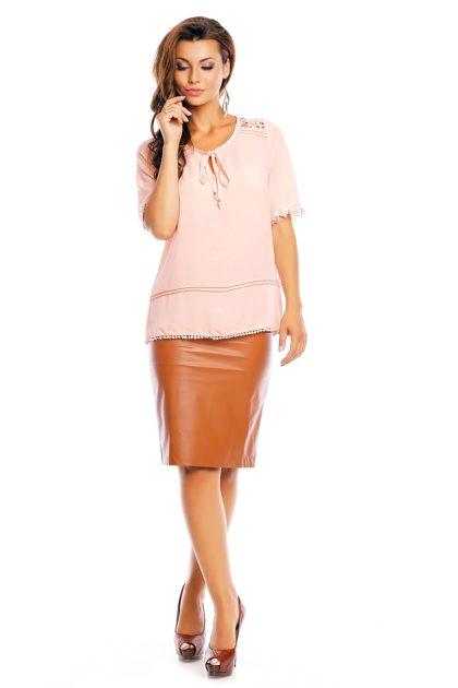 Bluza roz Attentif fata