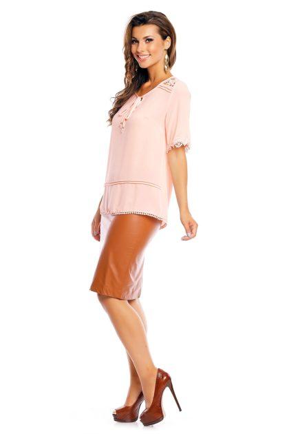 Bluza roz Attentif lateral