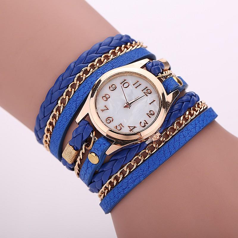 Ceas de mana albastru Relogio Feminino