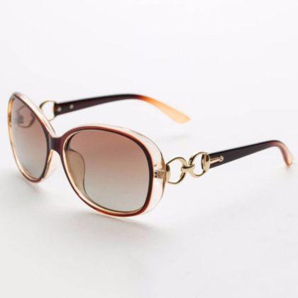 Ochelari de soare cu rama maro deschis Vintage Sunglass