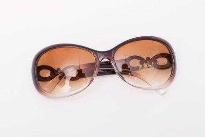 Ochelari de soare cu rama maro Vintage Sunglass fata