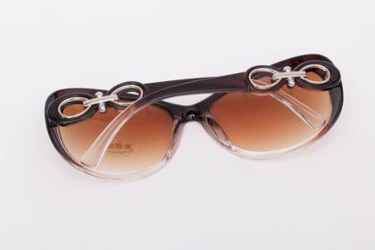 Ochelari de soare cu rama maro Vintage Sunglass spate