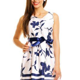 Rochie de vara alb-albastra
