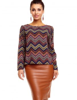 Bluza office multicolora Miliana
