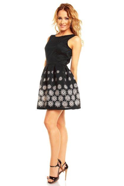 Rochie alb-negru Sweat Miss profil