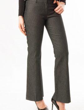 Pantaloni evazati bleumarin