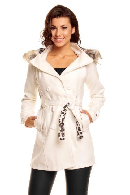 Palton alb Miko Moda fata