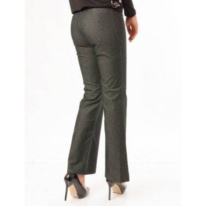 Pantaloni evazati bleumarin spate