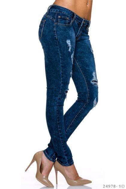 Jeans albastru inchis BY Sascha profil