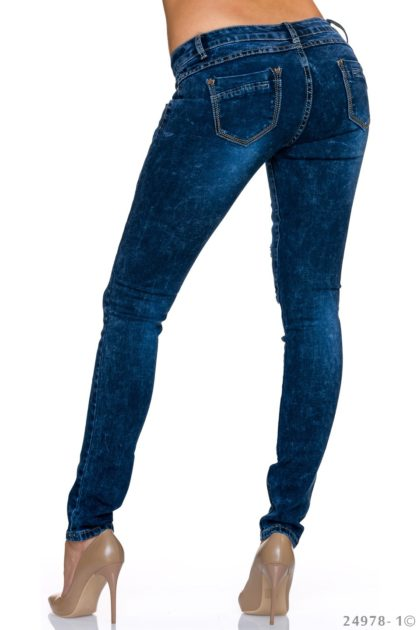 Jeans albastru inchis BY Sascha spate
