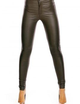 Pantaloni piele olive Laulia