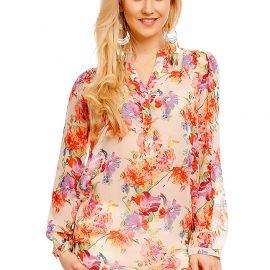 Bluza crem imprimeu floral Miliana