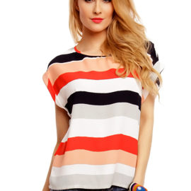 Bluza in dungi multicolore Sweet Miss