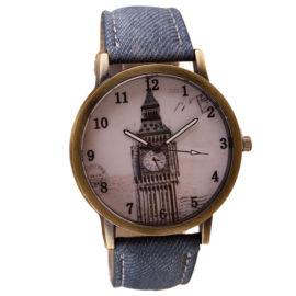 Ceas de mana albastru retro clock tower