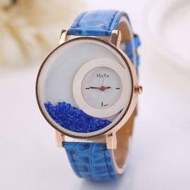 Ceas de mana cu cristale albastre