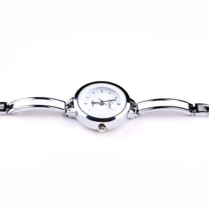 Ceas elegant argintiu Quartz profil