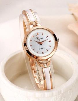 Ceas elegant roz-auriu Quartz