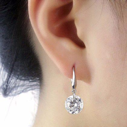 Cercei eleganti argint cu piatra zirconiu model