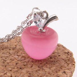 Colier argint cu pandantiv din opal roz