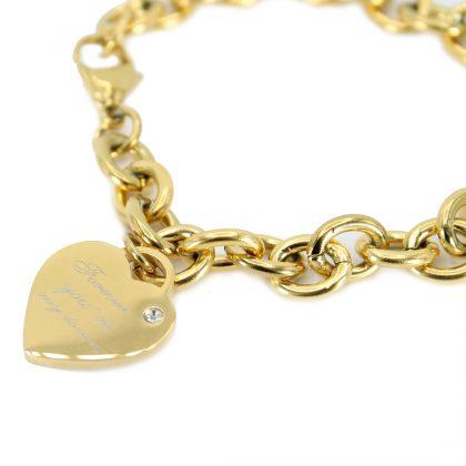 Bratara dama inimioara placata aur detaliu