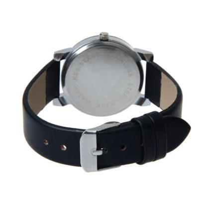 Ceas unisex negru cu cristale curea