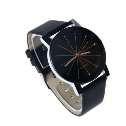 Ceas unisex negru cu cristale fata