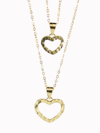 Colier argint 925 inimioare placat aur