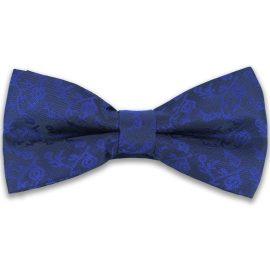 Papion barbati albastru imprimeu floral