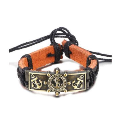 Bratara barbati handmade amuleta ancora