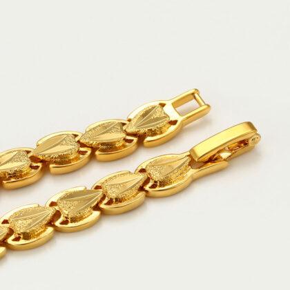 Bratara dama eleganta placata aur 24K sus