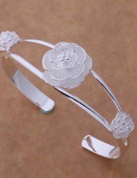 Bratara eleganta argint sferica cu trandafiri