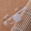 Bratara eleganta argint sferica cu trandafiri profil