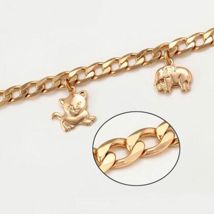 Bratara eleganta charm placata aur 18K detalii