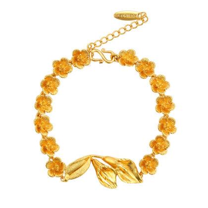 Bratara eleganta floricele placata aur