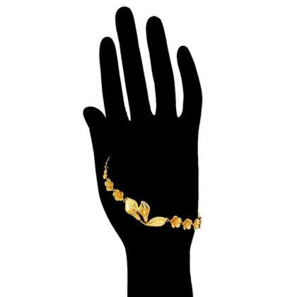 Bratara eleganta floricele placata aur mana