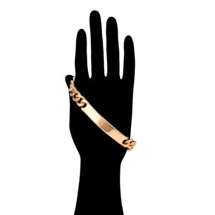 Bratara eleganta groasa placata aur mana